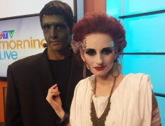 Image of Eclectica Beauty Studio Halloween FX makeup Frankenstein & Bride CTV News