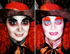Image of Eclectica Beauty Studio Halloween FX makeup Mad Hatter Alice in Wonderland Movie