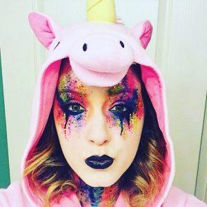 Eclectica Beauty Studio FX Halloween makeup Unicorn