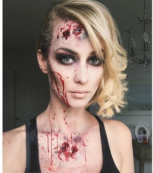 Image of Eclectica Beauty Studio Edmonton halloween makeup zombie gorgeous blonde woman