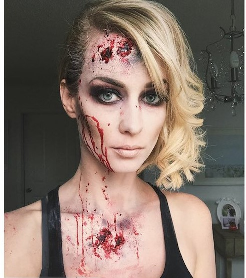 Image of Eclectica Beauty Studio Edmonton halloween makeup zombie gorgeous blonde woman
